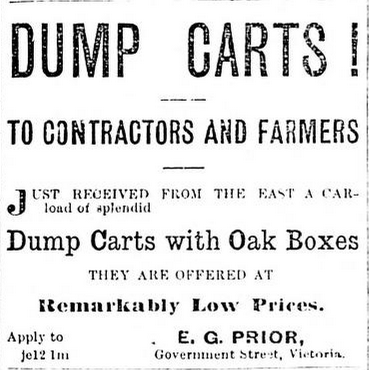 Advertisement for dump carts targeted to contractors and farmers